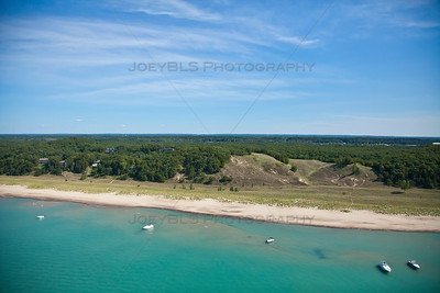 Aerial photo of Dune Acres, Indiana along the Indiana Dunes National Lakeshore
