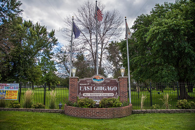 East Chicago, Indiana Welcome Sign