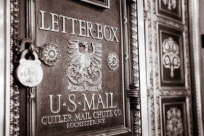 Old Fashion Business Letter Box at Gary, Indiana City Hall