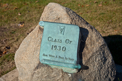 Griffith High School Class of 1930 Monument in Downtown Griffith, Indiana