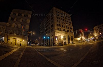 Downtown Hammond, Indiana at Night