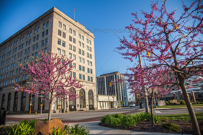 Downtown Hammond, Indiana in the Spring