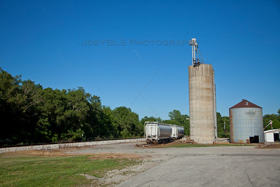 Hanna, Indiana Railroad and Silo