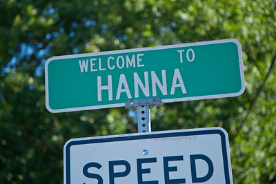 Hanna, Indiana Welcome Sign