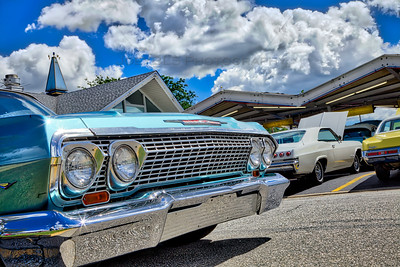 Classic Cars at Blue Top in Highland, Indiana