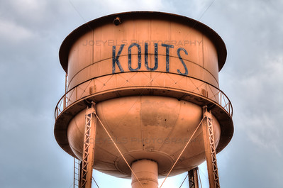 Kouts, Indiana Orange Water Tower