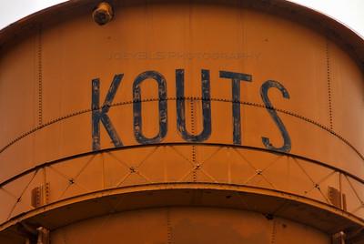 Kouts, Indiana Orange Water Tower