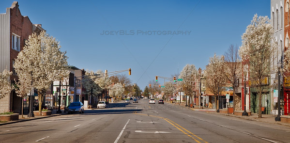 Spring in Downtown La Porte, Indiana on Lincolnway