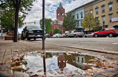La Porte, Indiana Puddle Reflection