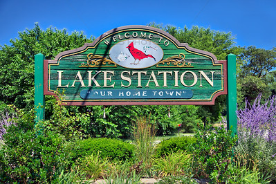 Lake Station, Indiana Welcome Sign