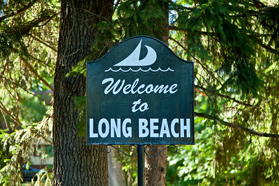 Long Beach, Indiana Welcome Sign