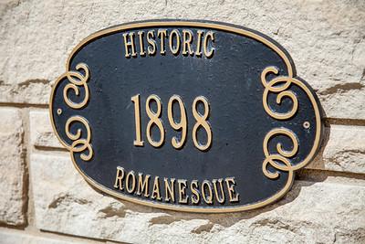 Historic Romanesque Plaque in Lowell, Indiana
