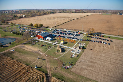 Aerial Lowell, Indiana Pumpkin Patch