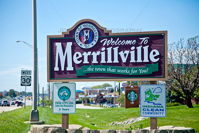Merrillville, Indiana Welcome Sign