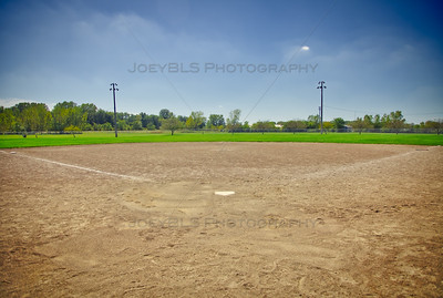 Baseball and Softball Fields at Hidden Lake Park in Merrillville, Indiana