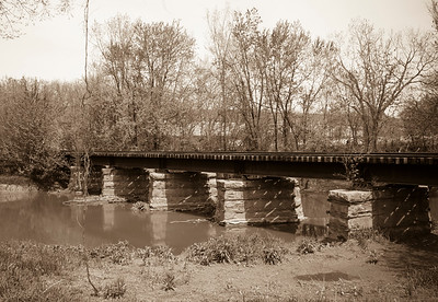 Monon Railroad Crossing over Little Calumet River before Bridge Reconstruction