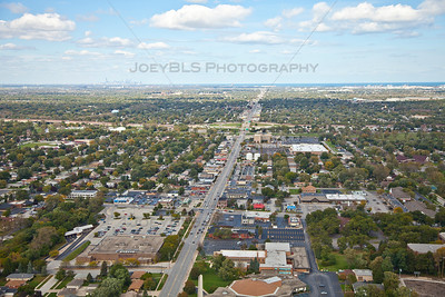Aerial Munster, Indiana over Calumet Avenue