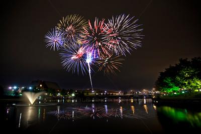 Munster, Indiana Fireworks at Centennial Park