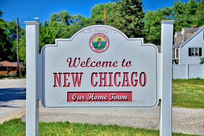 New Chicago, Indiana Welcome Sign