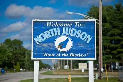 North Judson, Indiana Welcome Sign