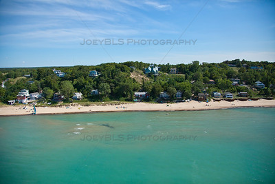 Aerial photo of Porter, Indiana at Porter Beach
