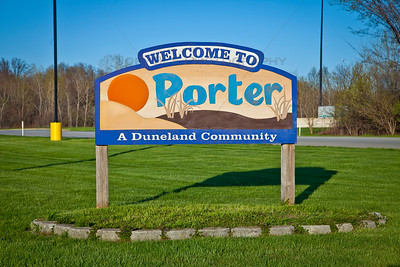 Welcome to Porter, Indiana Sign