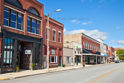 Downtown Rensselaer, Indiana in Jasper County