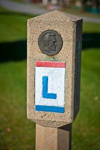 Old Lincoln Highway Marker in Schererville