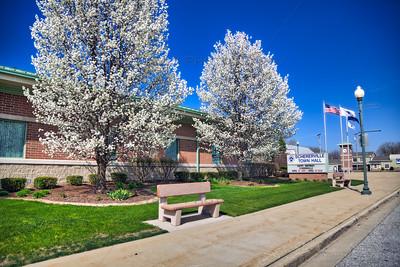 Schererville Town Hall in Spring