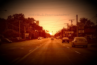 US 30 in Schererville at Sunset
