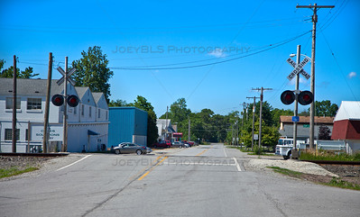 Shelby, Indiana Railroad Crossing
