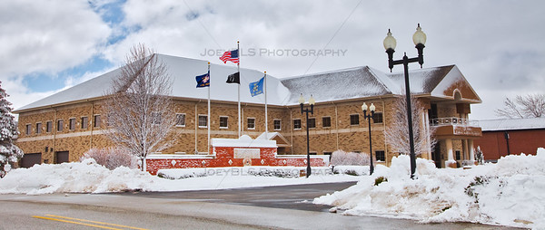 St John, Indiana Police Station and Fire Station Winter