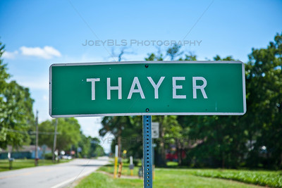 Thayer, Indiana Sign