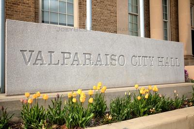 Valparaiso, Indiana City Hall in the Spring