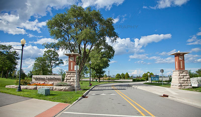 Whiting, Indiana Lakefront Park Entrance Summer Day