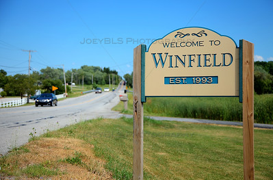 Welcome to Winfield, Indiana Sign