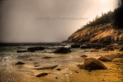 The beach in Acadia National Park near Bar Harbor, Maine.