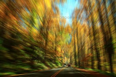 Smoky Mountains Scenic Drive Blur