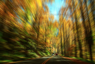 Smoky Mountains Scenic Drive Blur