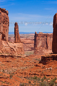 The rocks known as Park Avenue in Moab, Utah in the Arches National Park. Photo taken in June 2009.
