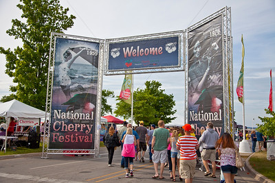 National Cherry Festival Sign in Traverse City, Michigan