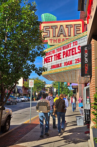 State Theater Marquee Traverse City - Vertical