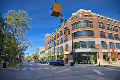 Corner of Front and Park Street in downtown Traverse City, Michigan