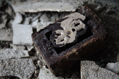 Old Rusty Electrical Outlet