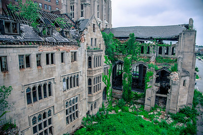 The Abandoned City Methodist Church in Gary, Indiana