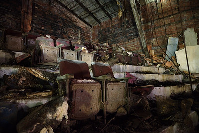 Two Abandoned Theater Seats