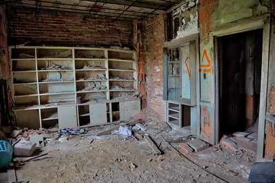 Shelves in an Abandoned Room
