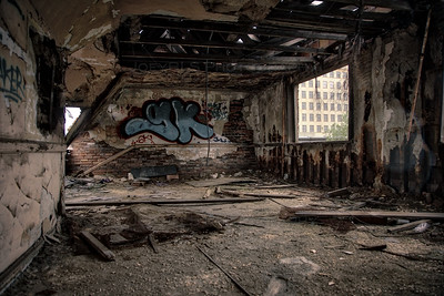 Empty Room in City Methodist Church in Gary, Indiana