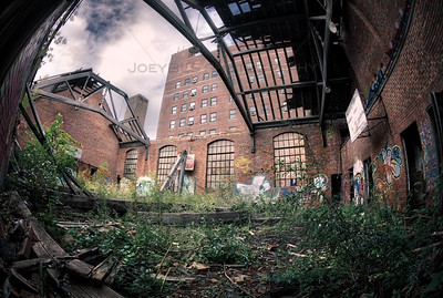 Abandoned City Methodist Church Gymnasium in Gary, Indiana