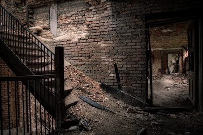 Abandoned Crumbling Staircase